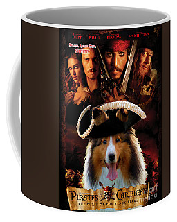 Sheltie - Shetland Sheepdog Art Canvas Print - Pirates Of The Caribbean The Curse Of The Black Pearl Coffee Mug