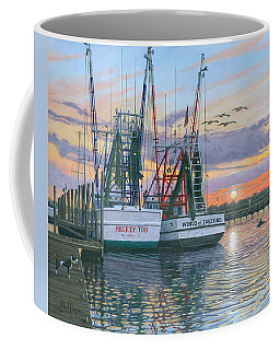 Shem Creek Shrimpers Charleston  Coffee Mug