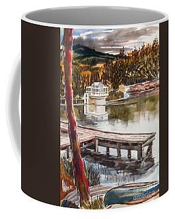 Coffee Mug featuring the painting Shepherd Mountain Lake In Twilight by Kip DeVore