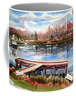 Coffee Mug featuring the painting Shepherd Mountain Lake In Winter by Kip DeVore
