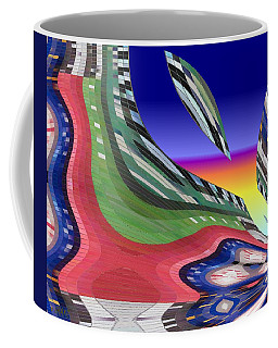 She's Leaving Home Abstract Coffee Mug by Alec Drake