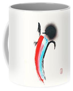 Coffee Mug featuring the painting Shiawase Wa Koun Iku by Roberto Prusso