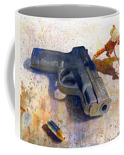 Coffee Mug featuring the painting Shield On The Ground by Andrew King