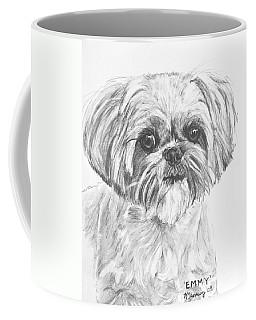 Shih Tzu Portrait In Charcoal Coffee Mug