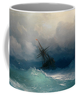 Ship On Stormy Seas Coffee Mug