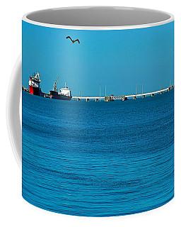 Ships  In Harbor Coffee Mug