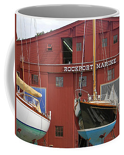 Ships In Waiting Coffee Mug by Jean Goodwin Brooks