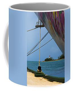 Ship's Ropes And Lighthouse Coffee Mug