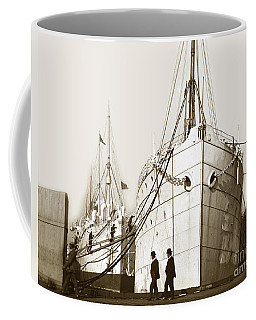 Coffee Mug featuring the photograph Steam Ships San Francisco California   Circa 1900 Historical Photo by California Views Mr Pat Hathaway Archives