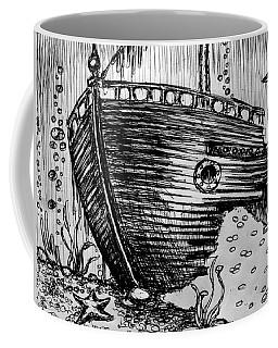 Coffee Mug featuring the painting Shipwreck by Salman Ravish