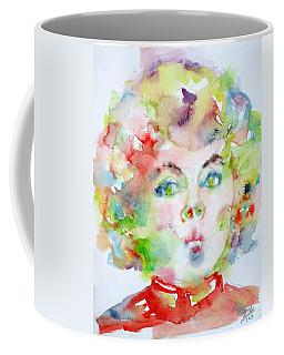 Shirley Temple - Watercolor Portrait.2 Coffee Mug