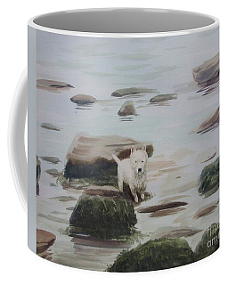 Coffee Mug featuring the painting Shirley's Dog by Martin Howard