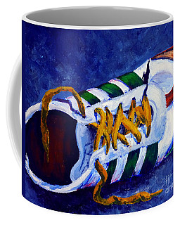 Coffee Mug featuring the painting Shoeless by Jackie Carpenter