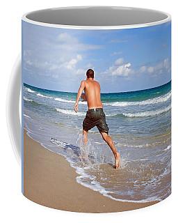 Shore Play Coffee Mug by Keith Armstrong