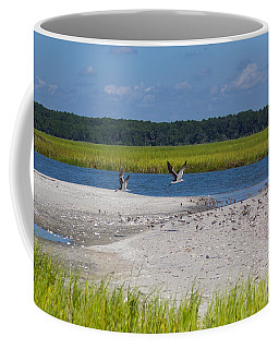 Shorebirds And Marsh Grass Coffee Mug