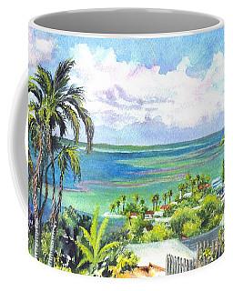 Coffee Mug featuring the painting Shores Of Oahu by Carol Wisniewski