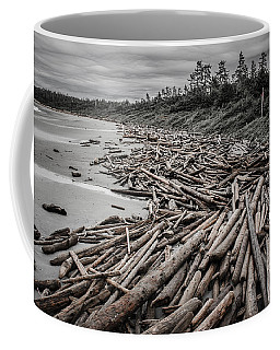 Shoved Ashore Driftwood  Coffee Mug by Roxy Hurtubise