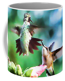 Coffee Mug featuring the photograph Showing Off by John Freidenberg