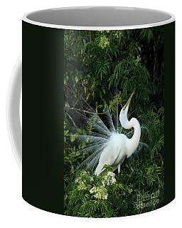 Showy Great White Egret Coffee Mug