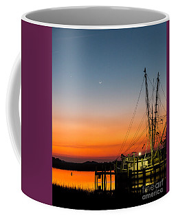 Shrimp Boat At Dusk Folly Beach Coffee Mug