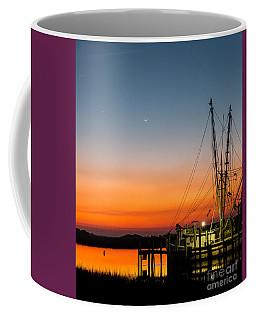 Shrimp Boat At Dusk Folly Beach Coffee Mug