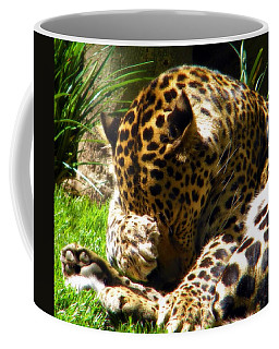 Shy Leopard Coffee Mug