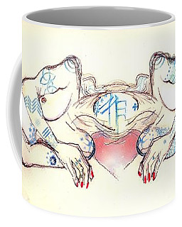 Coffee Mug featuring the painting Siamese Twins by Carolyn Weltman