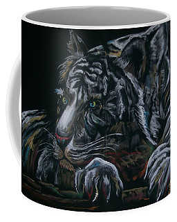 Coffee Mug featuring the pastel Siberian Tiger by Peter Suhocke