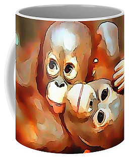 Coffee Mug featuring the digital art Siblings by Catherine Lott