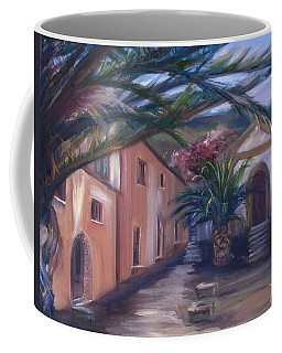 Coffee Mug featuring the painting Sicilian Nunnery II by Donna Tuten
