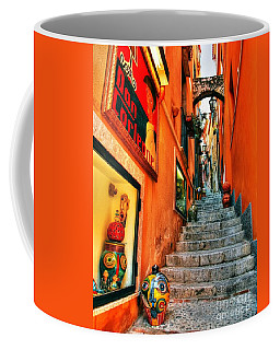 Coffee Mug featuring the photograph Sicilian Steps by Mel Steinhauer