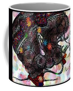 Side Face Lady Coffee Mug by Akiko Okabe