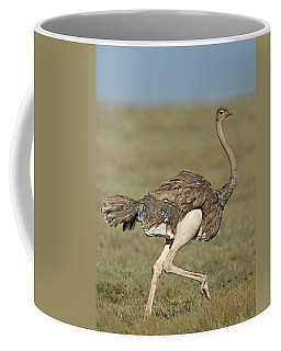 Side Profile Of An Ostrich Running Coffee Mug