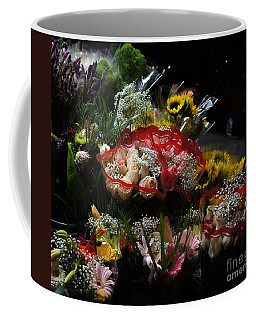 Coffee Mug featuring the photograph Sidewalk Flower Shop by Lilliana Mendez
