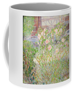 Sidewalk Flowers In Chicago Coffee Mug