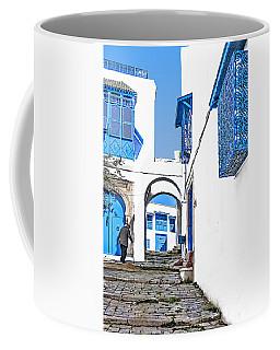 Old Man On Stairs Coffee Mug