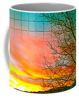 Sierra Sunset Cubed Coffee Mug