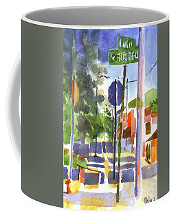 Coffee Mug featuring the painting Sign Posts by Kip DeVore