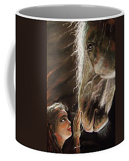Coffee Mug featuring the pastel Silent Love by Peter Suhocke