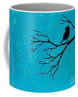 Silhouette Blue Coffee Mug