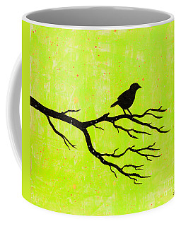 Silhouette Green Coffee Mug