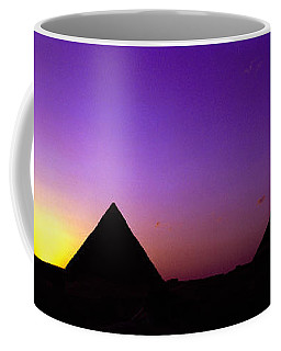 Silhouette Of Pyramids At Dusk, Giza Coffee Mug