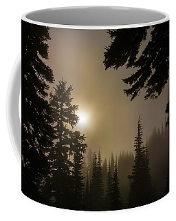Silhouettes Of Trees On Mt Rainier II Coffee Mug
