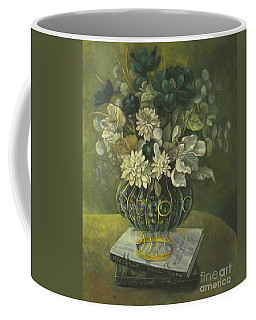 Silk Floral Arrangement Coffee Mug by Marlene Book