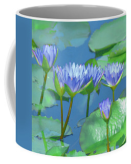 Coffee Mug featuring the photograph Silken Lilies by Holly Kempe