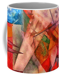 Coffee Mug featuring the digital art Silky Abstract by Catherine Lott