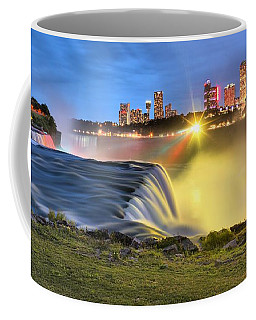 Silky Niagara Falls Panoramic Sunset Coffee Mug