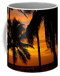 Silhouette Sunrise In Kapoho Coffee Mug