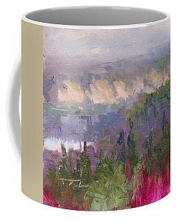 Silver And Gold - Matanuska Canyon Cliffs River Fireweed Coffee Mug