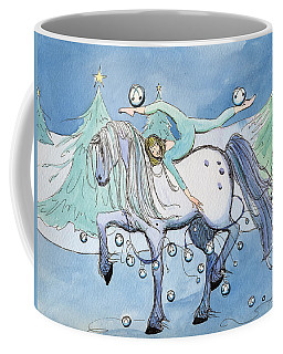 Coffee Mug featuring the painting Silver Belles by Katherine Miller